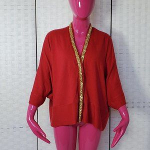 Lara Knit Reformed Red Cardigan